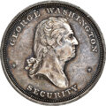 Washingtonia, (circa-1859) Washington Security, Sommer Islands Ship Medal, Musante GW-260, Baker-616A, AU58 NGC. W-15485, White metal, 32...