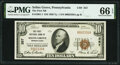 National Bank Notes:Pennsylvania, Selins Grove, PA - $10 1929 Ty. 1 The First National Bank Ch. # 357 PMG Gem Uncirculated 66 EPQ.. ...