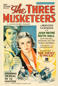 """The Three Musketeers (Mascot, 1933). Fine+ on Linen. One Sheet (27.5"""" X 41"""") Chapter 1 -- """"The Fiery Circ..."""