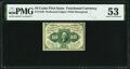 Fr. 1240 10¢ First Issue PMG About Uncirculated 53