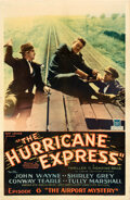 """Movie Posters:Serial, The Hurricane Express (Mascot, 1932). Fine on Linen. One Sheet (26.75"""" X 40.75"""") Chapter 6 -- """"The Airport Mystery."""". ..."""