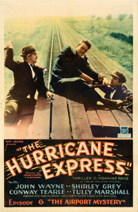"""The Hurricane Express (Mascot, 1932). Fine on Linen. One Sheet (26.75"""" X 40.75"""") Chapter 6 -- """"The Airpor..."""
