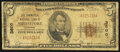 National Bank Notes:Louisiana, Shreveport, LA - $5 1929 Ty. 1 The Commercial National Bank Ch. # 3600 Good.. ...