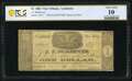 Obsoletes By State:Louisiana, New Orleans, LA- J.J. McKeever $1 Dec. 21, 1861 PCGS Banknote Very Good 10.. ...