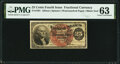 Fractional Currency:Fourth Issue, Fr. 1301 25¢ Fourth Issue PMG Choice Uncirculated 63.. ...
