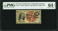 Fractional Currency:Fourth Issue, Fr. 1271 15¢ Fourth Issue PMG Choice Uncirculated 64 EPQ.. ...
