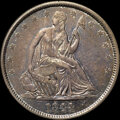 """Seated Half Dollars, 1844-O 50C AU55 NGC. Normal Date, Large Mintmark, WB-101. Ex: """"Col."""" E.H.R. Green. The sharply impressed design elements of..."""