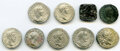 Ancients:Ancient Lots  , Ancients: ANCIENT LOTS. Mixed. Lot of nine (9) AR/AE denarii and drachm. VG-About XF.... (Total: 9 coins)