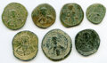 Ancients:Ancient Lots , Ancients: ANCIENT LOTS. Byzantine. Ca. AD 11th century. Lot of seven (7) AE anonymous folles or 40 nummi. Fine.... (Total: 7 coins)
