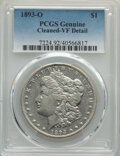 Morgan Dollars: , 1893-O $1 -- Cleaning -- PCGS Genuine. VF Details. Mintage 300,000. ...