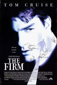 """The Firm & Other Lot (Paramount, 1993). Rolled, Overall: Very Fine-. Autographed One Sheet (26.75"""" X 39.75""""..."""