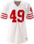 Football Collectibles:Uniforms, 1981-82 Earl Cooper Game Worn San Francisco 49ers Jersey from The Bill Fundaro Collection....