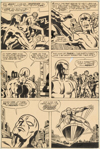 Jack Kirby and Joe Sinnott The Silver Surfer Graphic Novel Story Page 10 Original Art (Marvel/Simon and Schuster