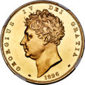 Great Britain, Great Britain: George IV gold Proof 5 Pounds 1826 PR64 Ultra Cameo NGC,...