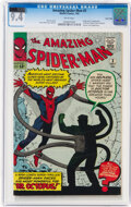 Silver Age (1956-1969):Superhero, The Amazing Spider-Man #3 Twin Cities Pedigree (Marvel, 1963) CGC NM 9.4 White pages....