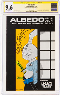 Albedo #2 Signature Series - Stan Sakai (Thoughts and Images, 1984) CGC NM+ 9.6 White pages