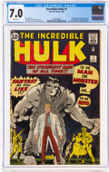 Silver Age (1956-1969):Superhero, The Incredible Hulk #1 (Marvel, 1962) CGC FN/VF 7.0 White pages....
