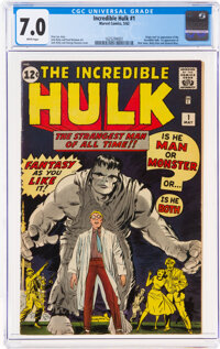 The Incredible Hulk #1 (Marvel, 1962) CGC FN/VF 7.0 White pages