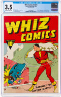 Golden Age (1938-1955):Superhero, Whiz Comics #1 (Fawcett Publications, 1940) CGC VG- 3.5 Off-white to white pages....