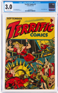 Terrific Comics #5 (Continental Magazines, 1944) CGC GD/VG 3.0 Off-white pages