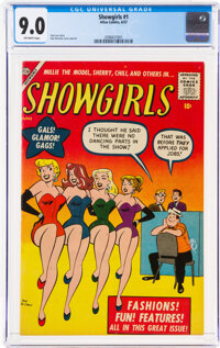 Showgirls #1 (Atlas, 1957) CGC VF/NM 9.0 Off-white pages