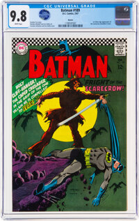 Batman #189 Boston Pedigree (DC, 1967) CGC NM/MT 9.8 White pages