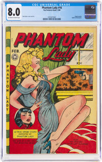 Phantom Lady #16 (Fox Features Syndicate, 1948) CGC VF 8.0 Off-white to white pages