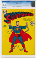 Golden Age (1938-1955):Superhero, Superman #11 (DC, 1941) CGC NM- 9.2 Off-white pages....
