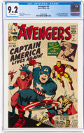 Silver Age (1956-1969):Superhero, The Avengers #4 (Marvel, 1964) CGC NM- 9.2 Off-white pages....