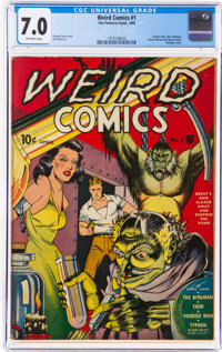 Weird Comics #1 (Fox Features Syndicate, 1940) CGC FN/VF 7.0 Off-white pages
