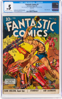 Fantastic Comics #3 (Fox, 1940) CGC PR 0.5 Off-white to white pages