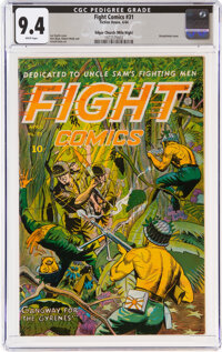 Fight Comics #31 Mile High Pedigree (Fiction House, 1944) CGC NM 9.4 White pages
