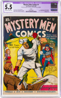 Mystery Men Comics #1 Larson Pedigree - Trimmed (Fox, 1939) CGC Apparent FN- 5.5 Off-white to white pages