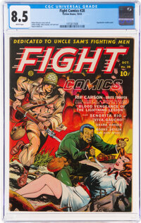 Fight Comics #28 (Fiction House, 1943) CGC VF+ 8.5 White pages