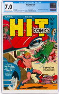 Golden Age (1938-1955):Superhero, Hit Comics #10 (Quality, 1941) CGC FN/VF 7.0 Off-white to white pages....