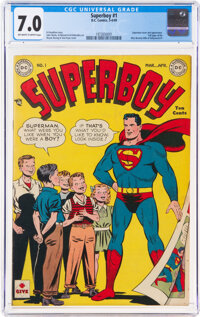 Superboy #1 (DC, 1949) CGC FN/VF 7.0 Off-white to white pages