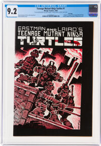 Teenage Mutant Ninja Turtles #1 File Copy Signed and Sketched by Kevin Eastman (Mirage Studios, 1984) CGC NM- 9.2 Off-wh...