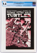 Modern Age (1980-Present):Alternative/Underground, Teenage Mutant Ninja Turtles #1 Third Printing (Mirage Studios, 1985) CGC NM 9.4 Off-white to white pages....