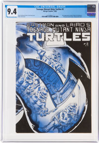 Teenage Mutant Ninja Turtles #2 (Mirage Studios, 1984) CGC NM 9.4 Off-white to white pages