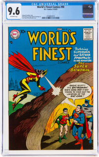 World's Finest Comics #90 (DC, 1957) CGC NM+ 9.6 Off-white pages