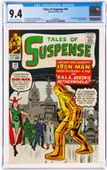 Silver Age (1956-1969):Superhero, Tales of Suspense #43 (Marvel, 1963) CGC NM 9.4 Off-white to white pages....