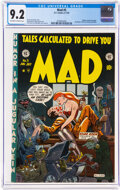 Golden Age (1938-1955):Humor, MAD #5 (EC, 1953) CGC NM- 9.2 Off-white to white pages....