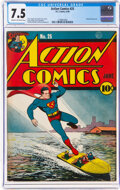 Golden Age (1938-1955):Superhero, Action Comics #25 (DC, 1940) CGC VF- 7.5 Cream to off-white pages....