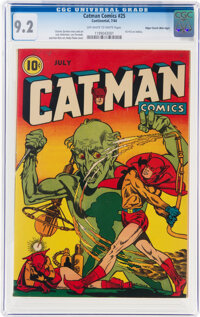 Cat-Man Comics #25 Mile High Pedigree (Continental, 1944) CGC NM- 9.2 Off-white to white pages