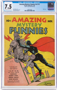 Amazing Mystery Funnies V2#11 (Centaur, 1939) CGC VF- 7.5 Cream to off-white pages