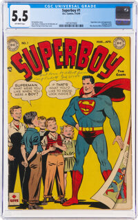 Superboy #1 (DC, 1949) CGC FN- 5.5 Off-white pages