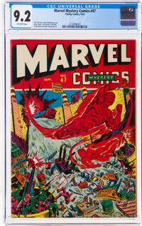 Marvel Mystery Comics #47 (Timely, 1943) CGC NM- 9.2 Off-white pages