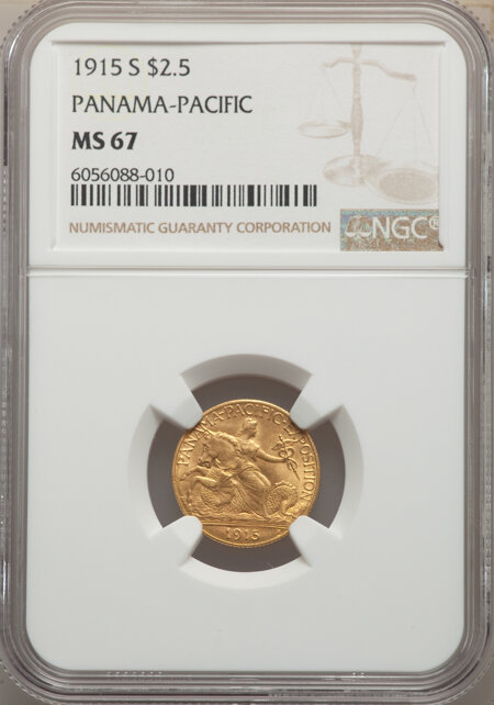1915-S $2 1/2 Panama-Pacific Quarter Eagle 67 NGC
