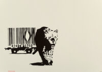 Banksy (b. 1974) Barcode, 2004 Screenprint in black on wove paper 19-3/4 x 27-1/2 inches (50 x 69