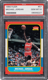 1986 Fleer Michael Jordan #57 PSA Gem Mint 10